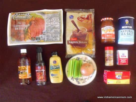 Ingredients for Apricot Glazed Corned Beef