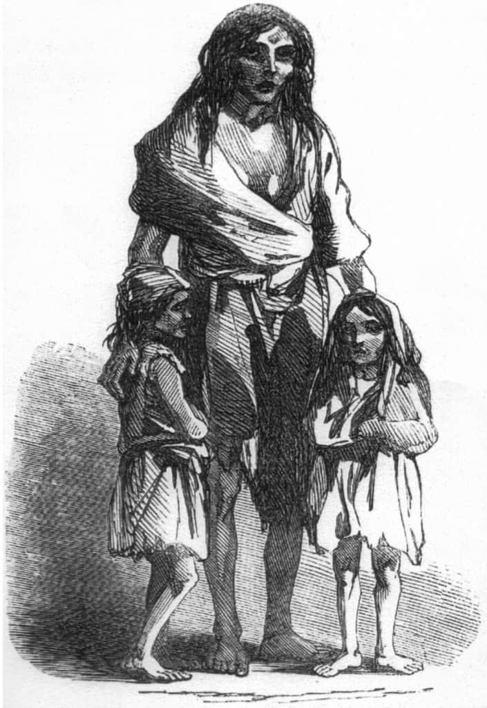 http://commons.wikimedia.org/wiki/File:Irish_potato_famine_Bridget_O%27Donnel.jpg