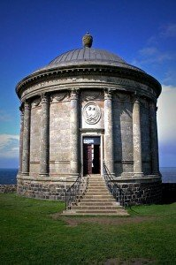 Entrance door to Mussenden Temple