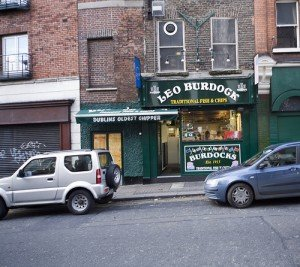 Dublin's oldest chip shop is Leo Burdocks with a green shop front