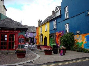 Colorful shop fronts in Kinsale County Cork