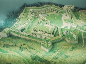Aerial view of Charles Fort a walled sea front fort in County Cork