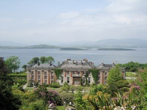 Looking down on Bantry House and Bantry Bay in County Cork