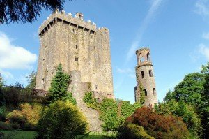 View of Blarney Castle and tower in County Cork Ireland