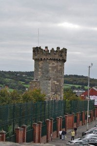 A tower on Derry City walls