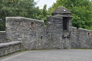 Stone walls that surround the city of Derry Northern Ireland