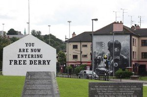 You are now entering free Derry sign in the Bogside