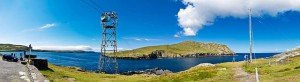 The cable car that takes visitors to Dursey Island in County Cork