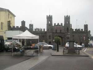 Front of turreted entrance to Macroom Castle County Cork