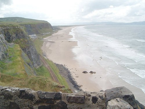 Long sandy beach in County Derry Northern Ireland