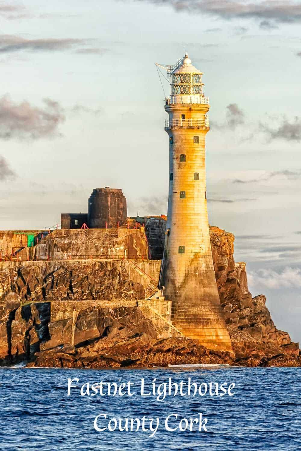 Image of the Fastnet Lighthouse off the coast of County Cork Ireland