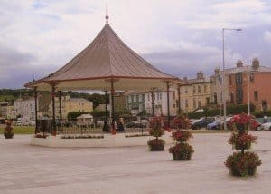 Band stand on the beach front in Bray County Wicklow Ireland