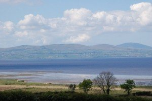 Looking across Lough Foyle from County Derry to County Donegal
