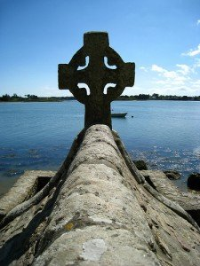 A Celtic Cross in Brittany France which is a Celtic region