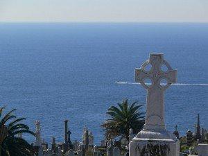 A Celtic Cross above the ocean in faraway Australia