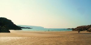 A sandy beach near Dungloe in County Donegal