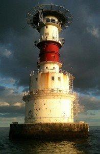 The Kish Lighthouse off the coast of Dublin and Howth