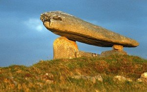 Large capstone on the Kilclooney Dolmen near Ardara County Donegal