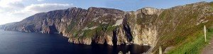 panorama view of the cliffs at Slieve League
