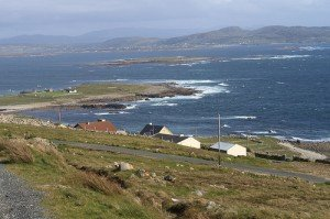 View from Aranmore Island towards the mainland of County Donegal