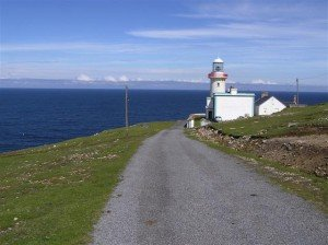 Lighthouse on Aranmore Island in County Donegal