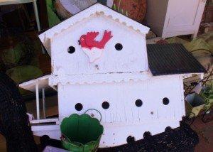 White bird house at a Curiosity Shop in Pine Mountain Georgia