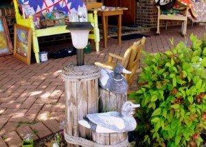 Wooden ducks outside a curiosity shop in Pine Mountain Georgia