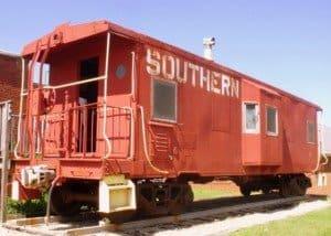 Pine mountain southern railroad car in Georgia