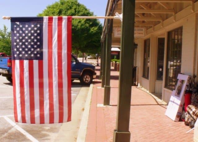 American Flag In Pine Mountain, Georgia
