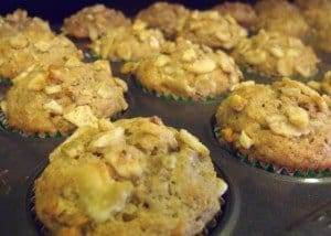 Banana Nut Whole Wheat Muffins