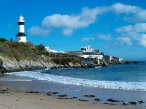 Lighthouse at Dunagree Point on the Inishowen Peninsula in County Donegal