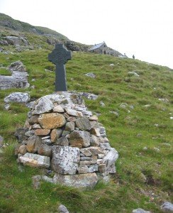 A Celtic cross on one of the Stations of the Cross on the Western Way in Ireland