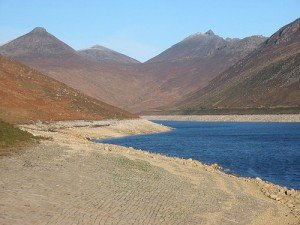 The water reservoir in the Mourne Mountains in County Down