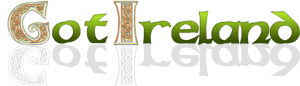 Green lettering with Celtic knotwork on logo for Got Ireland