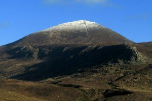 Snow capping the top of Slieve Donard the hightest mountain in Ulster