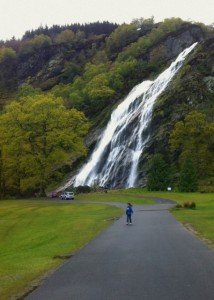 The highest waterfall in Ireland at Powerscourt