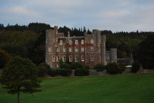 Large brick castle called Castlewellan in County Down Northern Ireland