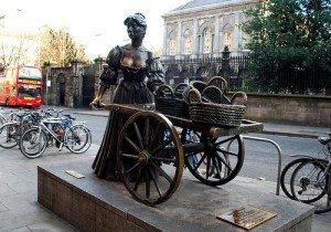 Molly Malone Statue opposite Trinity College Dublin