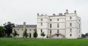 White solid building of Rathfarnham Castle in County Dublin