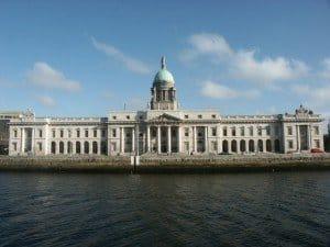 Looking across the River Liffey toward the Dublin Custom House