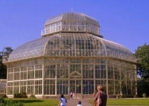 Victorian glass house in the Botanic Gardens in Dublin