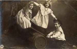 Vintage Photograph - children on a see-saw