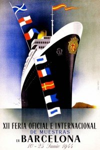 Vintage Travel Poster - Ship