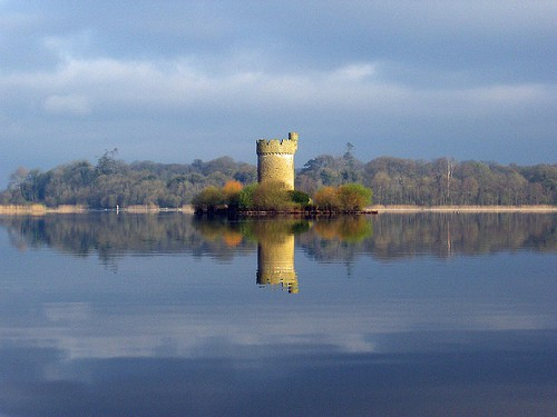 Crichton's Tower on an island in Fermanagh's lake district