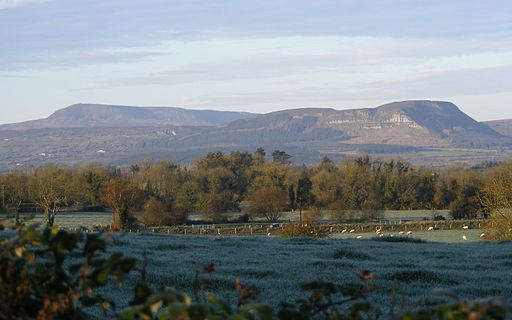 The mountains of County Fermanagh on a sunny morning