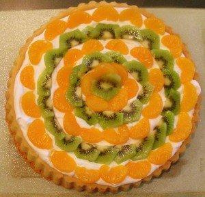 Irish Fruit And Cream Flan