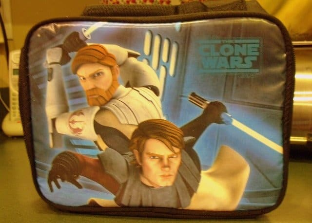 lunch box with jedi knights