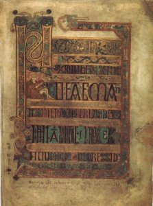 Sample page from the Book of Kells - an ancient Irish manuscript