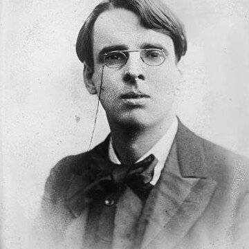 Vintage image of WB Yeats wearing spectacles