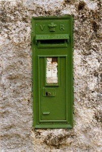 Victorian era post box on a wall in Maum County Galway Ireland